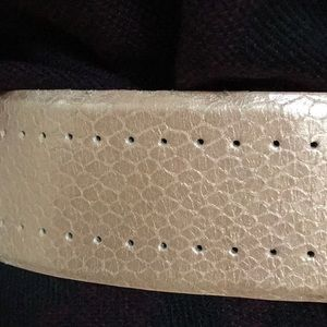 Talbots Accessories - Like new leather wide belt pink metallic croc